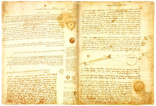 Pages from Leonardo da Vinci
